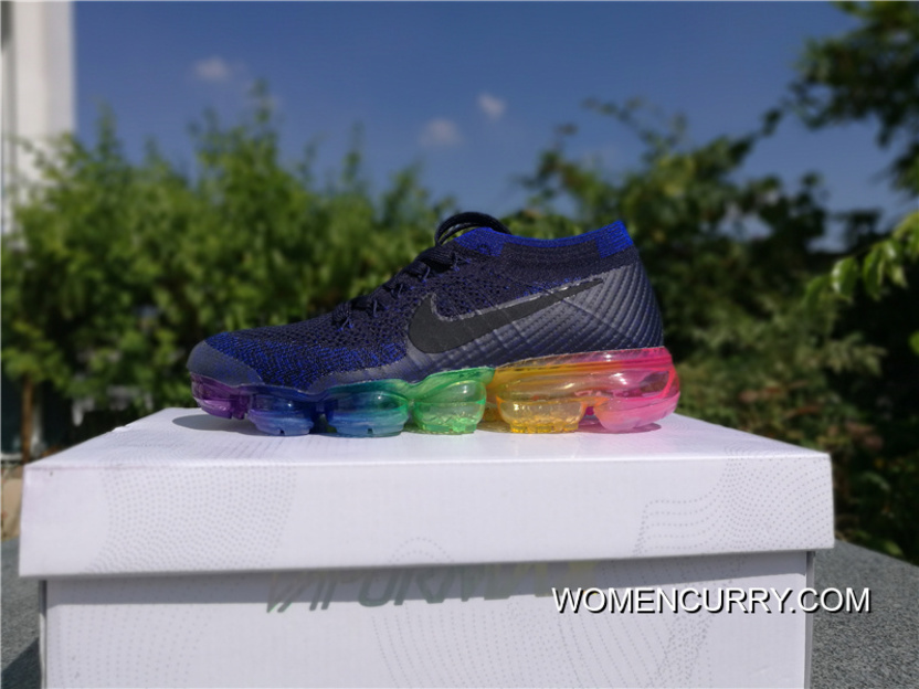394d35fe869 P220 Nike Air VaporMax Air Zoom Air 2018 Rainbow At The End Of 883275-400 Woven  FLYKNIT Mesh Breathable Running Shoes Right Shoe Pad Rubber Injection Hole  ...