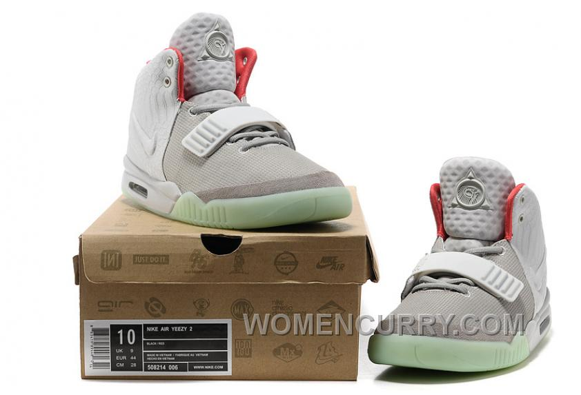 7dfae6c27a5 Nike Air Yeezy 2 Wolf Grey Pure Platinum Glow In The Dark Free Shipping  PQ3p8hH