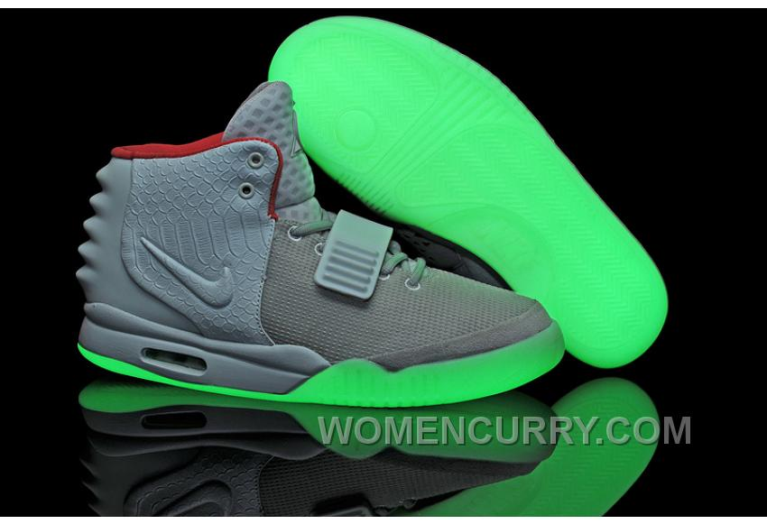6c2e58d128c1d Nike Air Yeezy 2 Wolf Grey Pure Platinum Glow In The Dark Free Shipping  PQ3p8hH