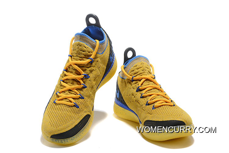 37f6a220a0af Best Kevin Durant s Nike KD 11 Yellow Black-Blue Shoes Free Shipping ...
