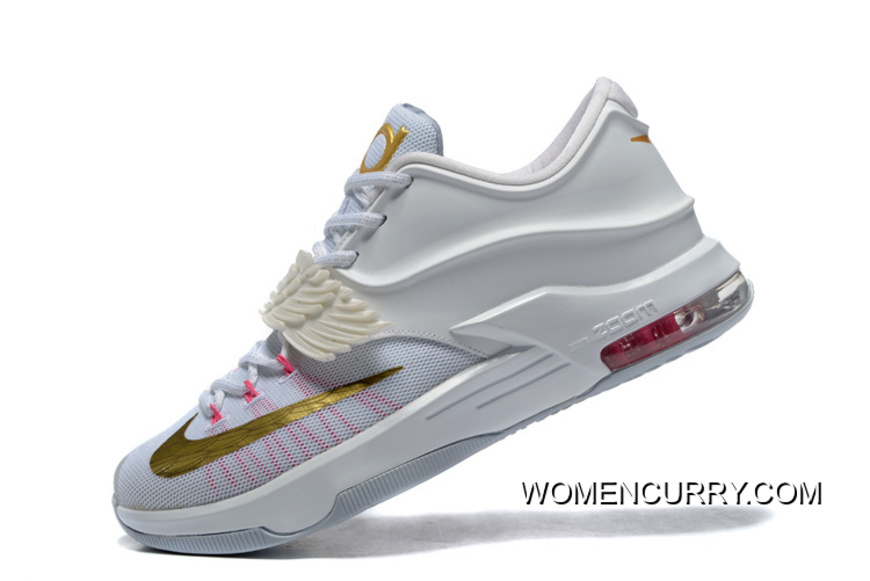 Aunt Pearl' Nike KD 7 White/Metallic GoldPink PowPure '