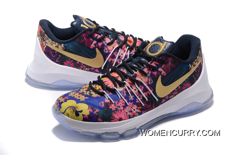 Nike KD 8 EXT Floral Multicolor Mens Basketball Shoes