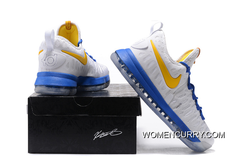 """best sneakers 42a69 e1fbc """"Golden State Warriors"""" Nike KD 9 White/Yellow Blue Discount"""