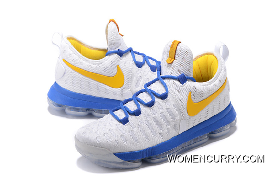 hot sale online b0b45 ffd30 ... where can i buy golden state warriors nike kd 9 white yellow blue  discount d0ef9 eba81