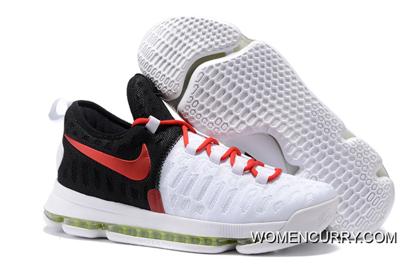 Nike KD 9 White Black Red Men's Basketball Shoe Top Deals