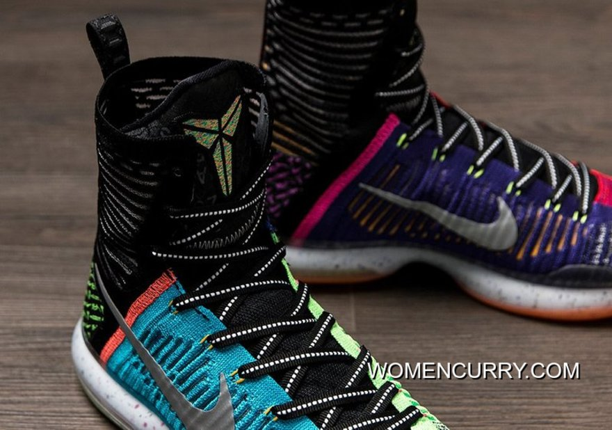buy popular f0fab bb8ea  What The  Nike Kobe 10 Elite High Multi-color Reflective Silver Discount