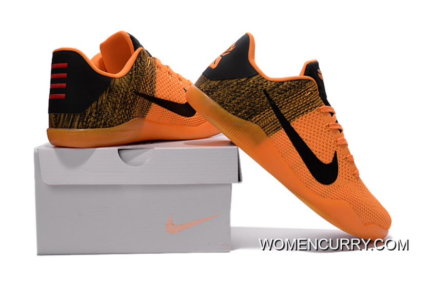 Nike Kobe 11 Elite Orange Black Basketball Shoes Cheap To Buy