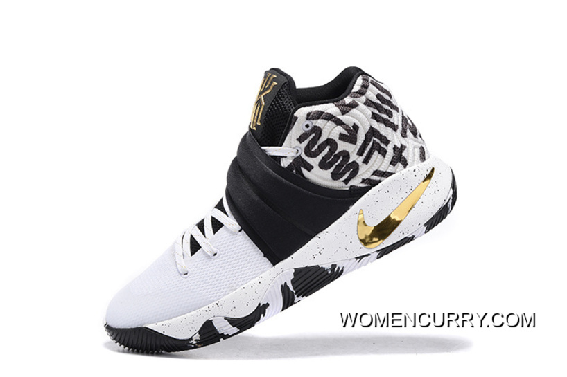 b7c4dc82247e Nike Kyrie 2 ID Camo White Black And Gold Cheap To Buy