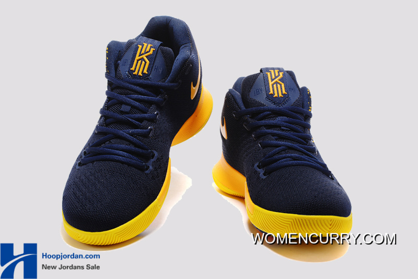 678207f4a29b ... new style nike kyrie 3 cavs deep blue yellow pe mens basketball shoes  best 63541 845dc