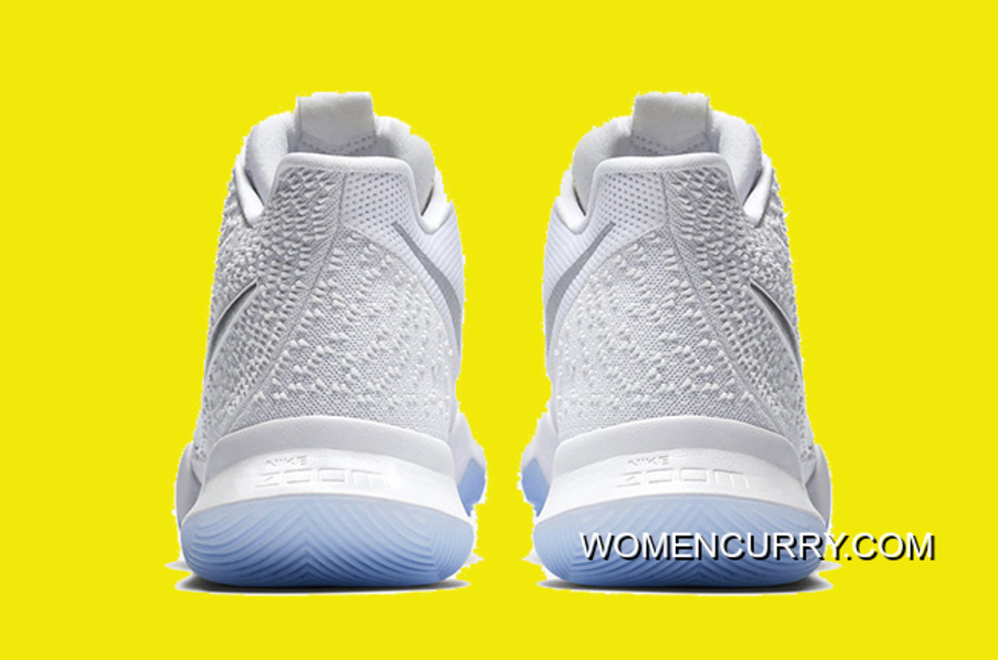 Nike Kyrie 3  White Chrome  852395-103 New Release 913741df3