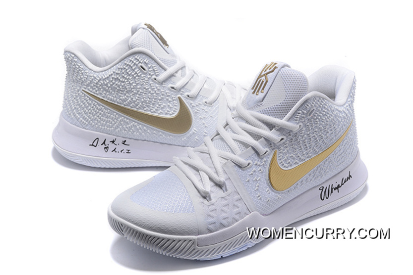 9344c502574d ... australia white ice nike kyrie 3 white gold mens basketball shoe new  release b4863 d84e1