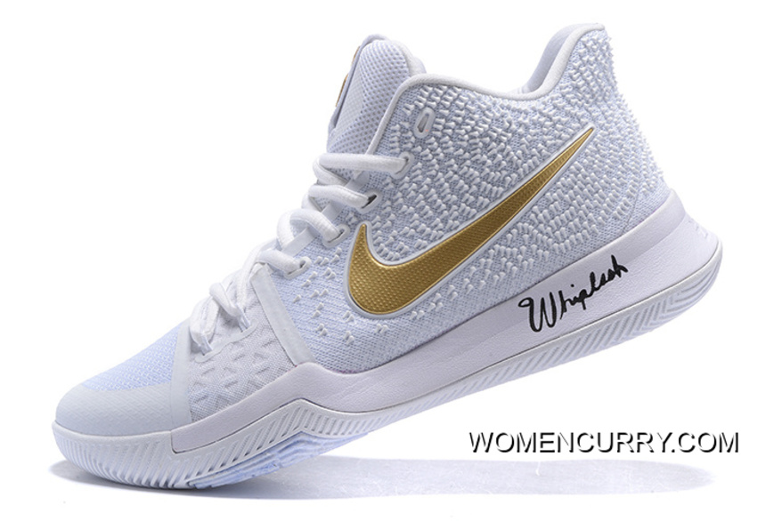 "314ad6110d22 White Ice"" Nike Kyrie 3 White Gold Men s Basketball Shoe New Release ..."