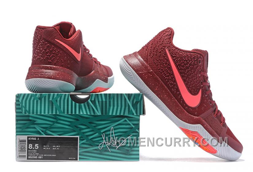 timeless design ad08f 22fbc Nike Kyrie 3 Mens BasketBall Shoes Burgundy Top Deals TMy5EZp