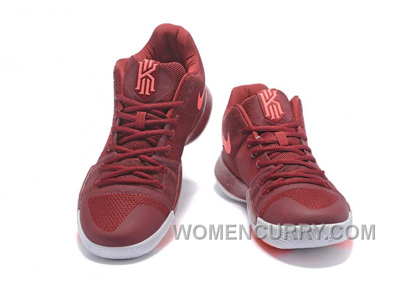timeless design a88f8 dfc9d Nike Kyrie 3 Mens BasketBall Shoes Burgundy Top Deals TMy5EZp