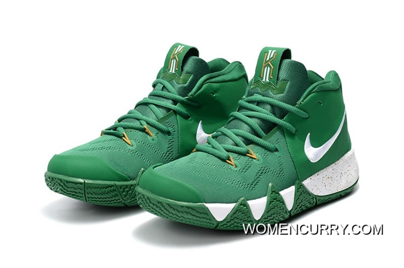 "brand new 72c26 2d1e6 New Year Deals Nike Kyrie 4 ""Celtics"" PE Green White-Gold"