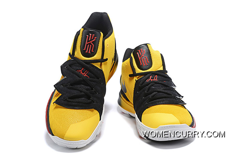 """low priced 3c178 9b56c Free Shipping Nike Kyrie 5 """"Bruce Lee"""" Mamba Mentality Tour Yellow/Black"""