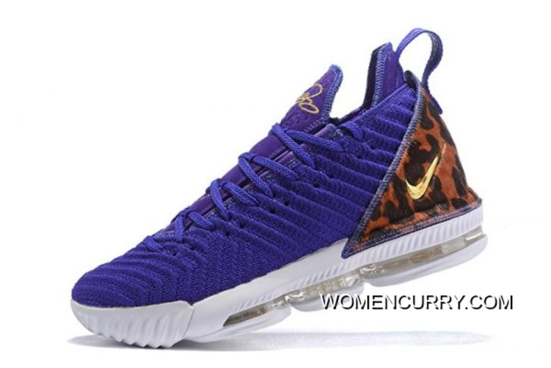 "812dcb0d253 Nike LeBron 16 ""King Court Purple"" Court Purple Metallic Gold AO2588 ..."