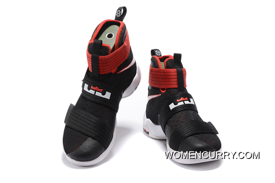 6b437ced470a ... discount bred nike lebron soldier 10 black white red lastest 7902c f28a9