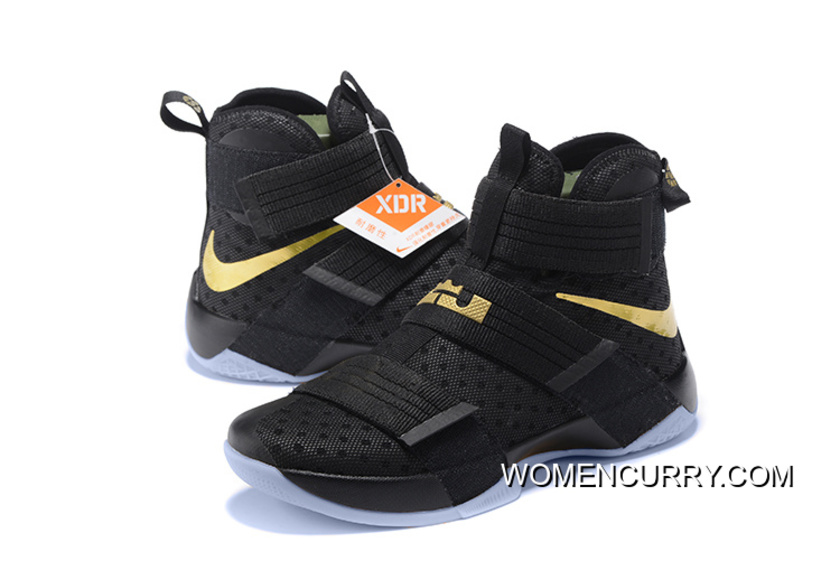 save off 94f46 f5ff4 Nike LeBron Soldier 10 Finals ID. Black Gold Online