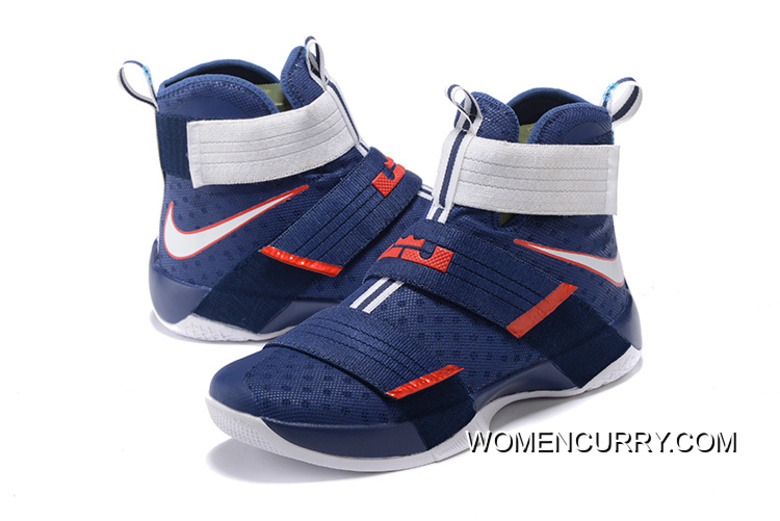 901fc4e81f27c  USA  Nike LeBron Soldier 10 Obsidian White-University Red New Release