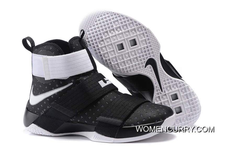 brand new 1ca61 2730f Nike Zoom LeBron Soldier 10 Black/White-Metallic Silver Online