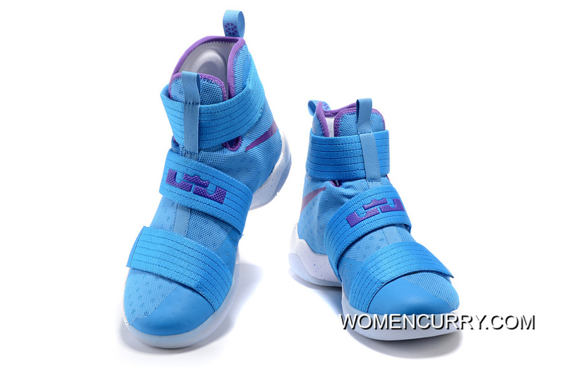 buy online 7906f 835f4 Nike Zoom LeBron Soldier 10 Blue Purple White For Sale