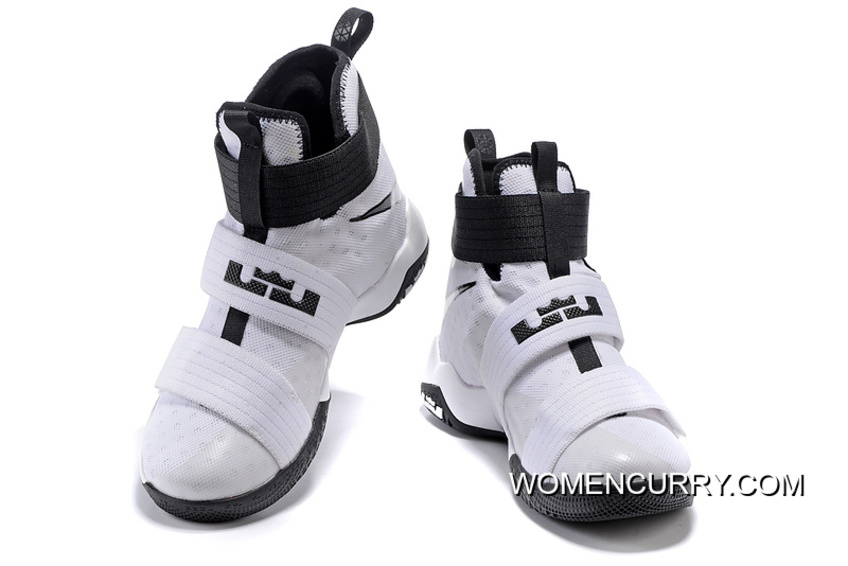 save off c329c 6f549 Nike Zoom LeBron Soldier 10 White-Black/Metallic Silver Top Deals