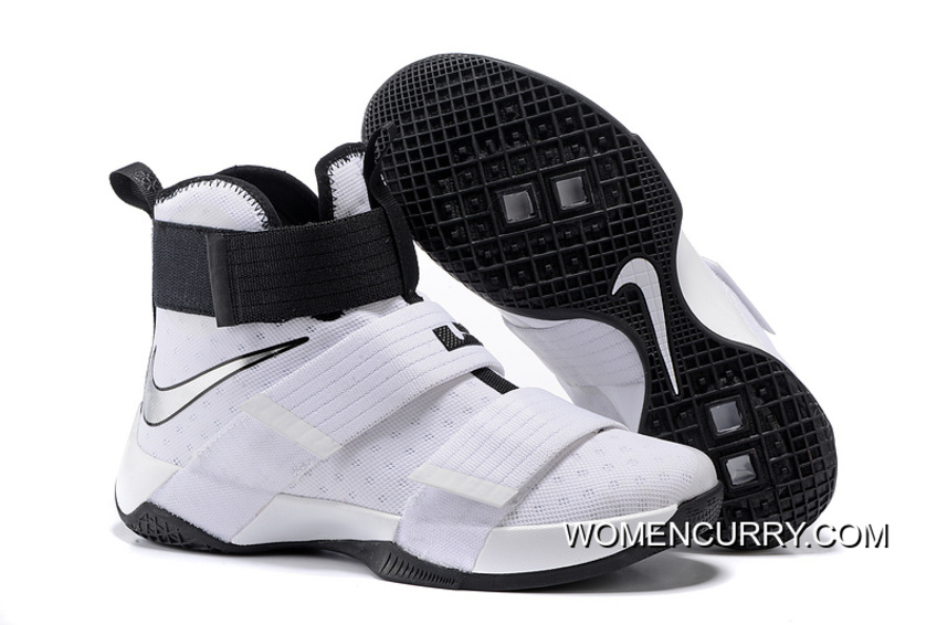 Nike Zoom LeBron Soldier 10 White-Black Metallic Silver Top Deals ... e555bac9ee