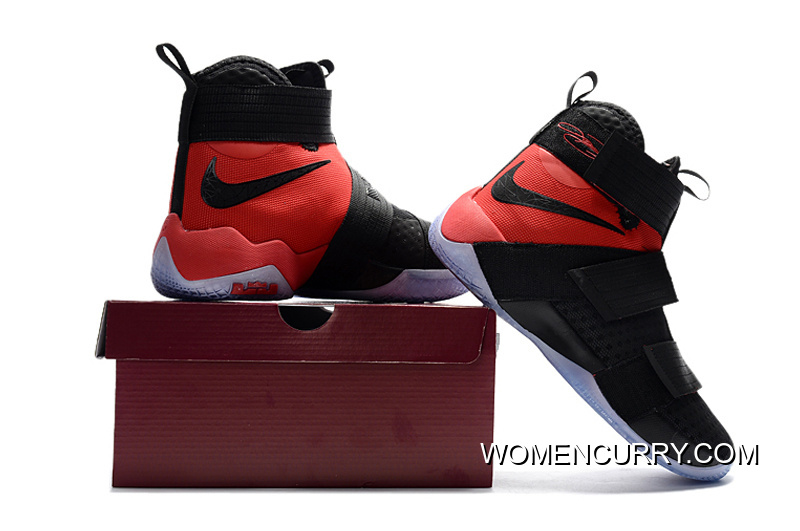 "37dde5eea96 ""Team Red"" Nike LeBron Soldier 10 SFG Black Red For Sale """
