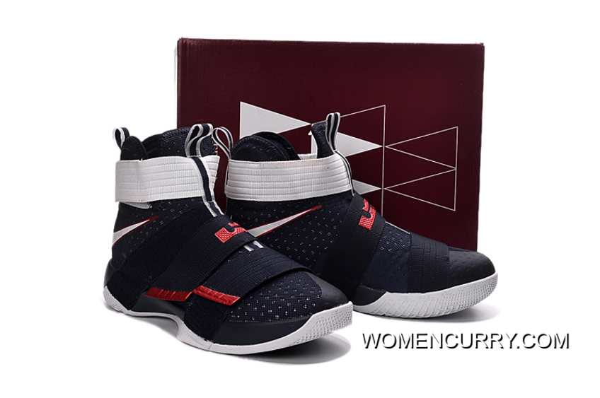 4281c6ddb24e7  USA  Nike LeBron Soldier 10 Obsidian White-University Red Super Deals