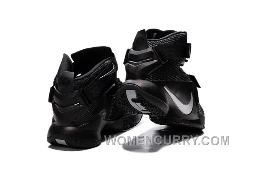 "best loved af1cf 8464b Nike LeBron Soldier 9 ""Blackout"" Mens Basketball Shoes Free Shipping DZXbBe"