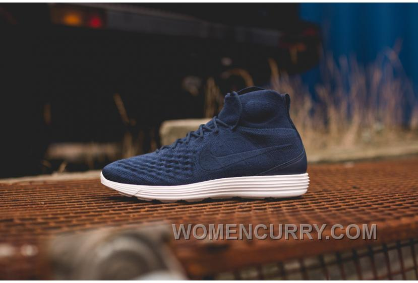 free shipping 29a30 349ea Nike Lunar Magista II Flyknit Blue White 852614-600 Cheap To Buy
