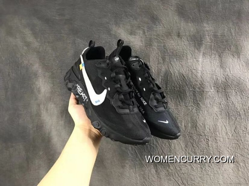 size 40 ae9f3 a5e43 New Release Men Nike React Element 87 X OFF-WHITE Running Shoe SKU 37273