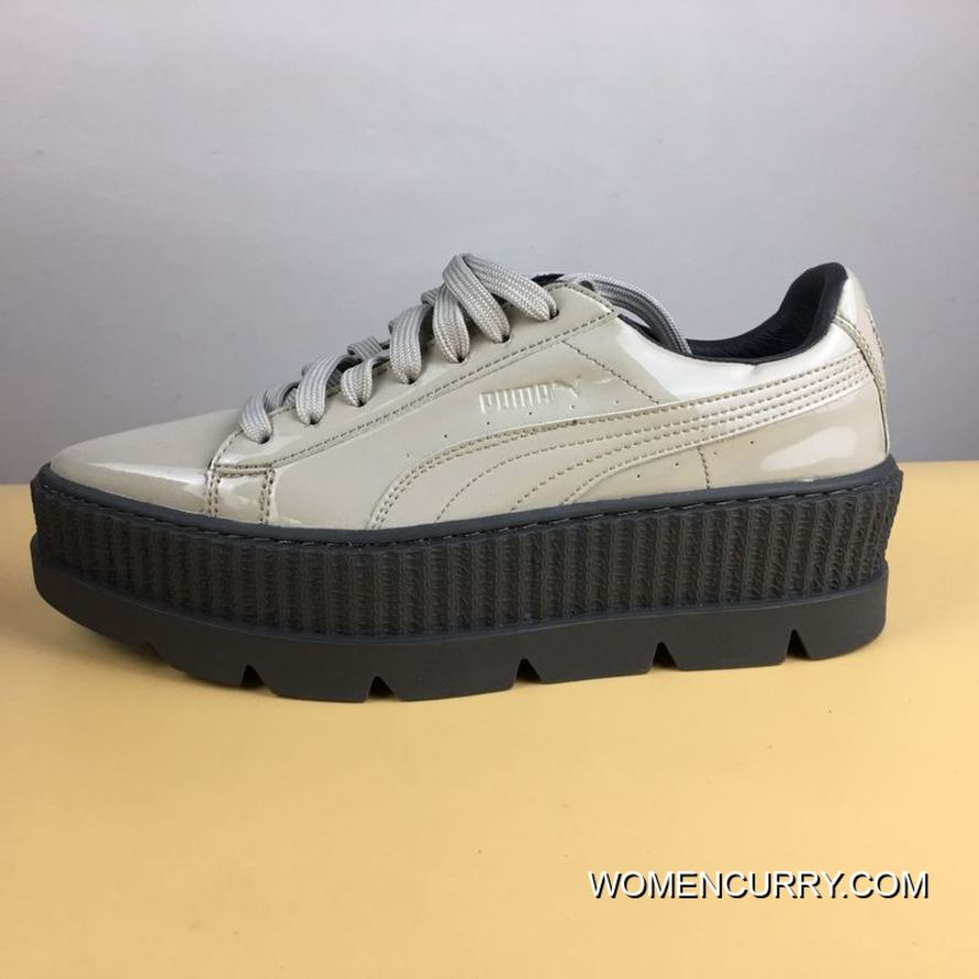 cheap for discount 805f0 9b01c Best 2017 Autumn Fall And Winter Rihanna Flatform Sneakers Grey White Size  35.35.5.36.37.37.5.38.39 Rihanna X Puma Fenty Suede Cleated Creeper