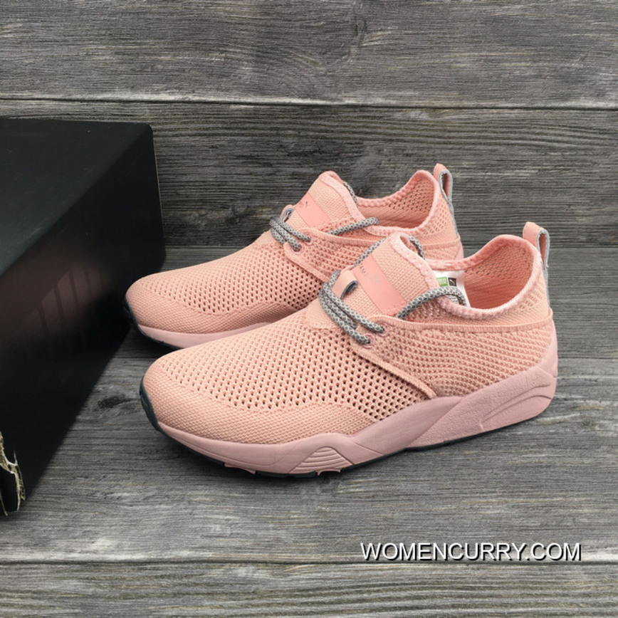 Puma Stampd Trinomic Woven Women Shoes Pink New Style
