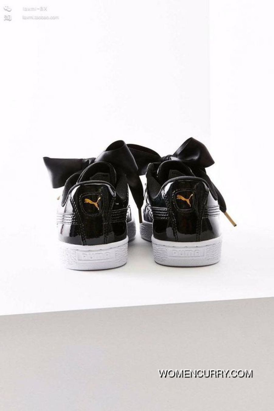 953784b9c83 Puma Suede Heart Patent Donna Scarpe Black White Women Cheap To Buy ...