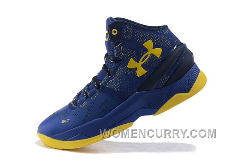 """ee857909300a Under Armour Curry 2 """"Dub Nation"""" Blue Yellow Shoes For Sale Xmas Deals"""
