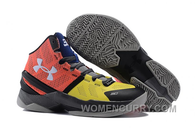 "70aa84d2c28 Under Armour Curry 2 ""I Can Do All Things"" Black Yellow Red Shoes ..."