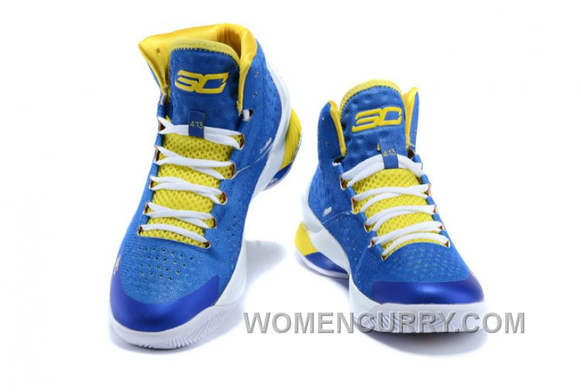 "361b810efa9c Discount Under Armour UA Curry One ""Home"" Blue Yellow Shoes For Sale ..."