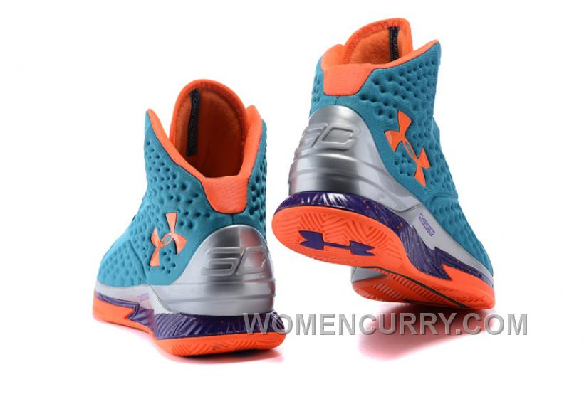 release date: 9cc49 7d29c New Arrival Under Armour UA Curry One Hyper Blue Purple-Blitz Orange Shoes  For