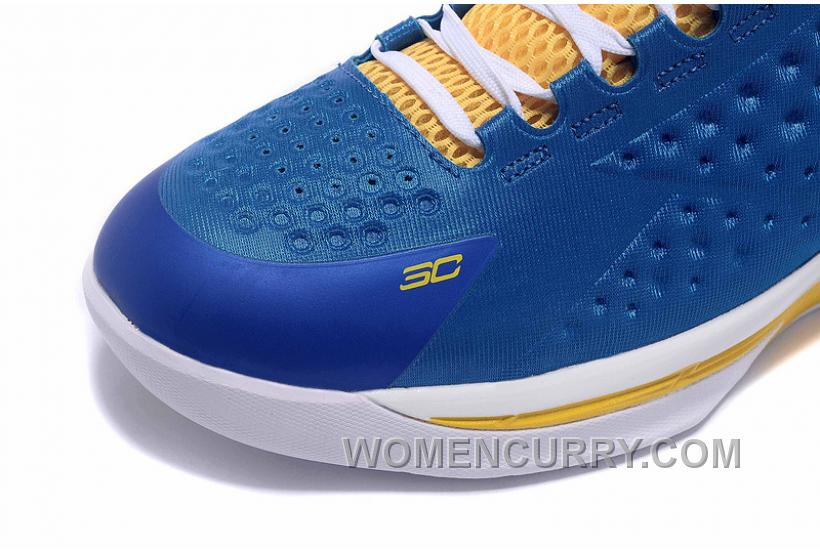 994556f36cc2 Womens Under Armour Curry One Low Royal Blue Yellow White Online ...
