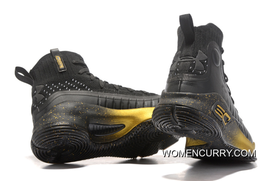 344c2ef7059c Under Armour Curry 4 Basketball Shoes Black Gold Discount