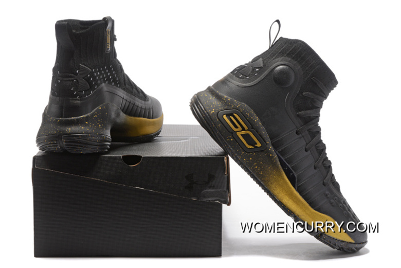 """efd13aab512b Under Armour Curry 4 """"Finals"""" High Black Gold PE Free Shipping ..."""
