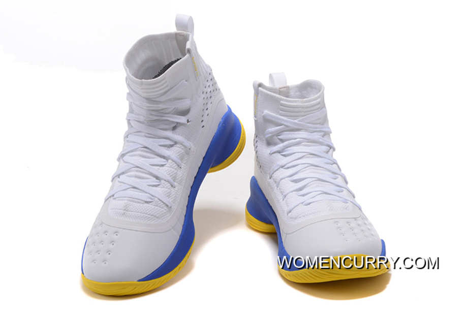 7e338c56c618 Under Armour Curry 4 White Blue Yellow Hot Sell Online