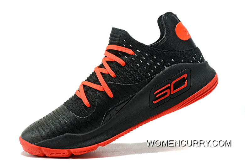 7e82c3709305 Latest Under Armour Curry 4 Low Black Red Fast Shipping Cheap To Buy ...